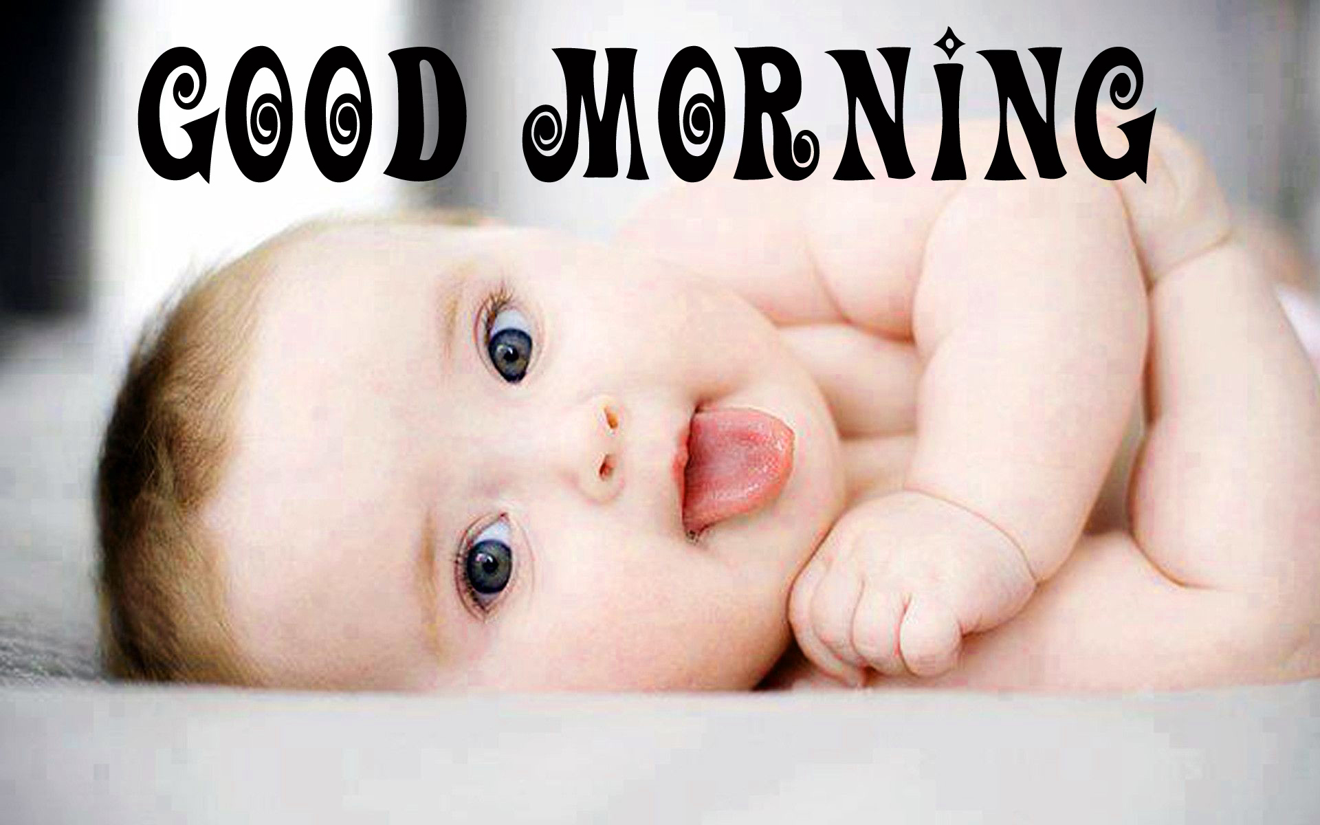 cute Baby Good Morning Images Wallpaper Photo for Whatsapp