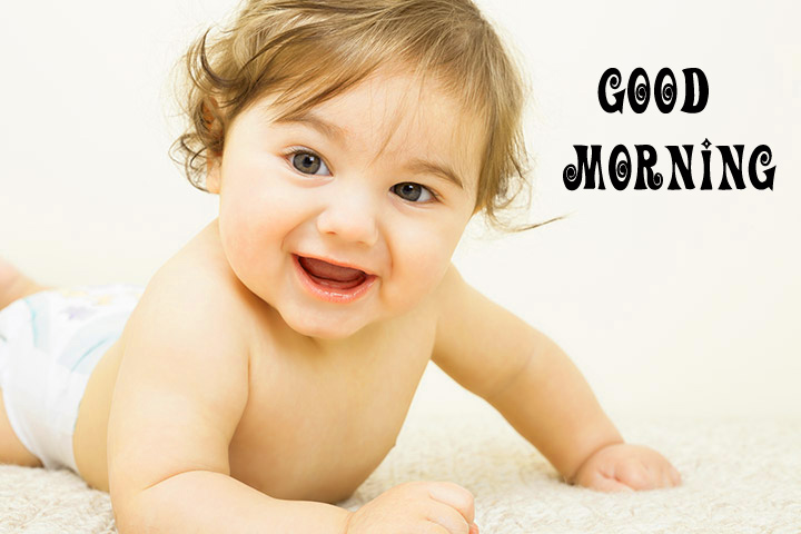 cute Baby Good Morning Images Pic Wallpaper