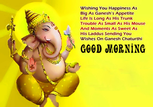 Ganesha Good Morning Images Pictures Free Download