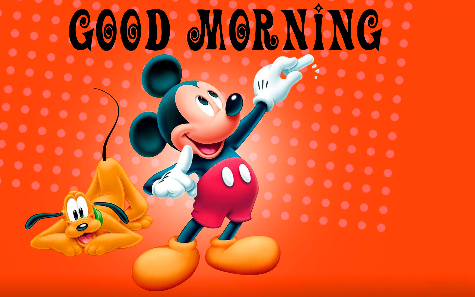 Good morning  wishes with mickey Images Wallpaper Pictures Download