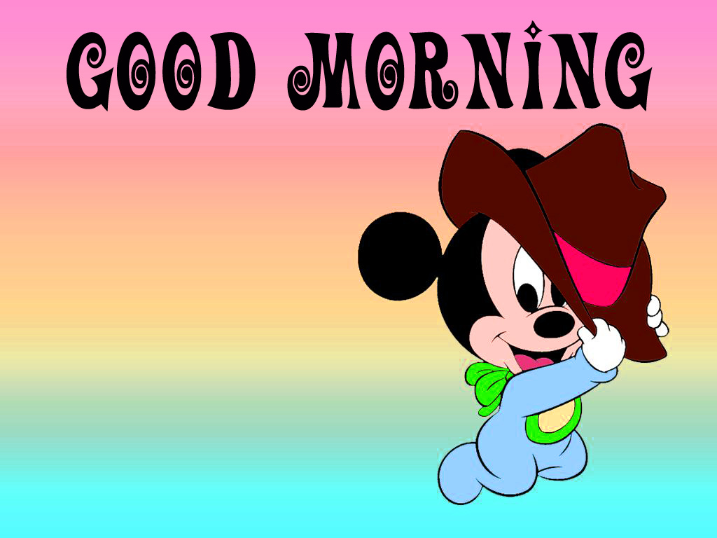Good morning  wishes with mickey Images Wallpaper for Kids
