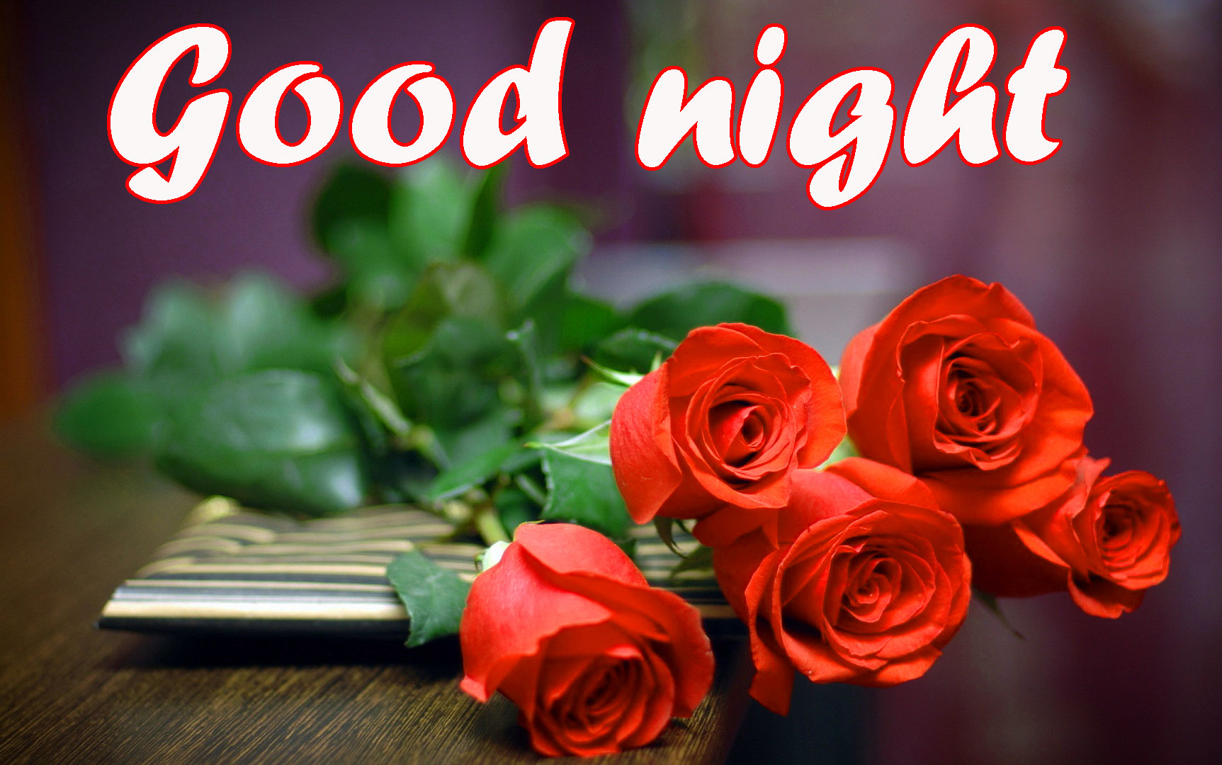 RED ROSE GOOD NIGHT WISHES IMAGES PHOTO PICS FREE DOWNLOAD
