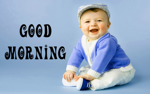 Cute Baby Good Morning Images Pics Download